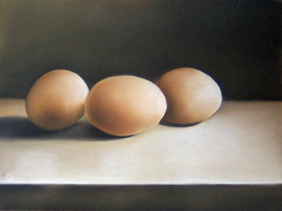 Still Life Painting - Still Life With Eggs by Natasha Zivojinovic