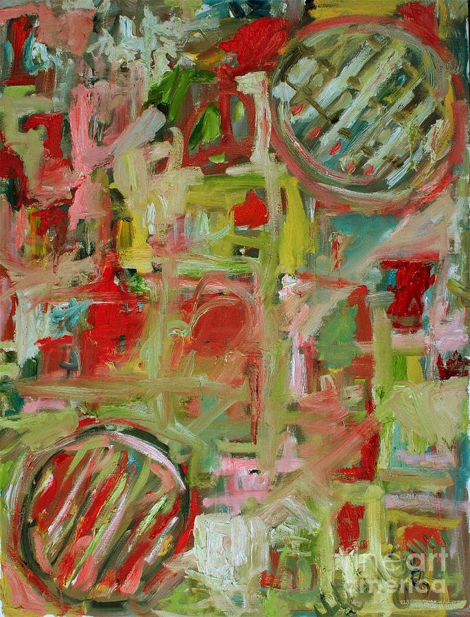 Abstract Painting - Still Life With Fruit by Michael Henderson
