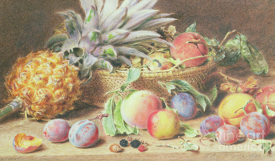 Pineapple Painting - Still Life With Fruit by William Henry Hunt