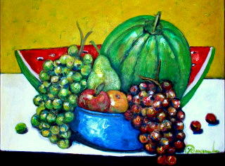 Still Life With Fruits Painting by Yasemin Raymondo