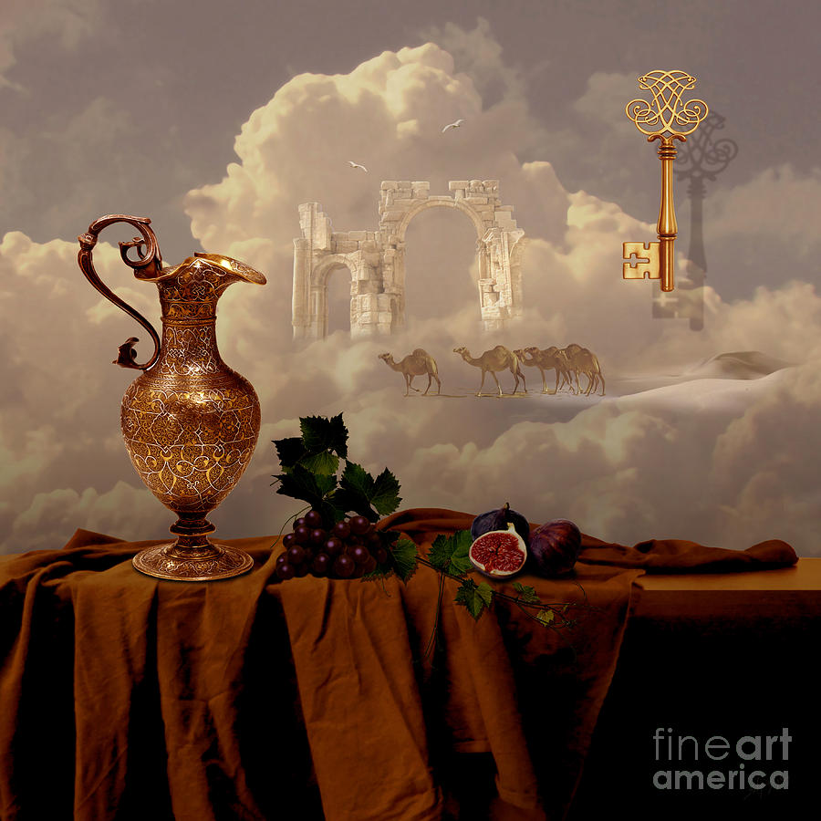 Still life with gold key by Alexa Szlavics
