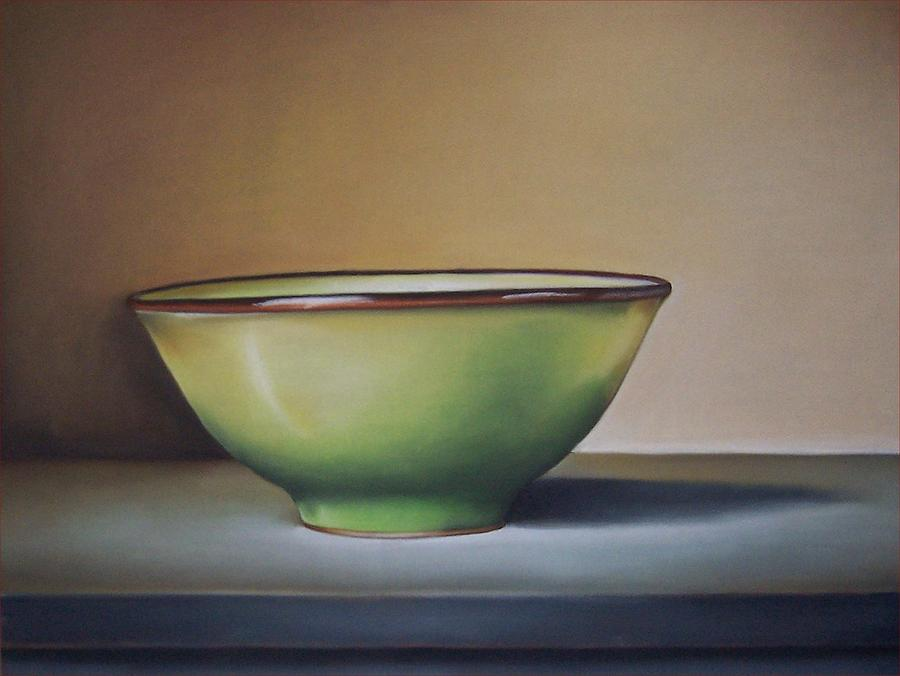 Still Life Painting - Still Life With Green Bowl by Natasha Zivojinovic