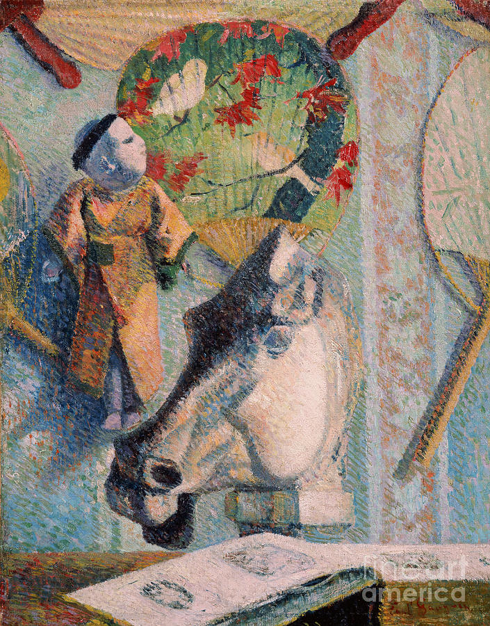 Paul Painting - Still Life With Horse Head by Gauguin