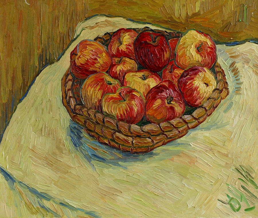 Still Life Painting - Still Life With Moravian Apples by Vitali Komarov