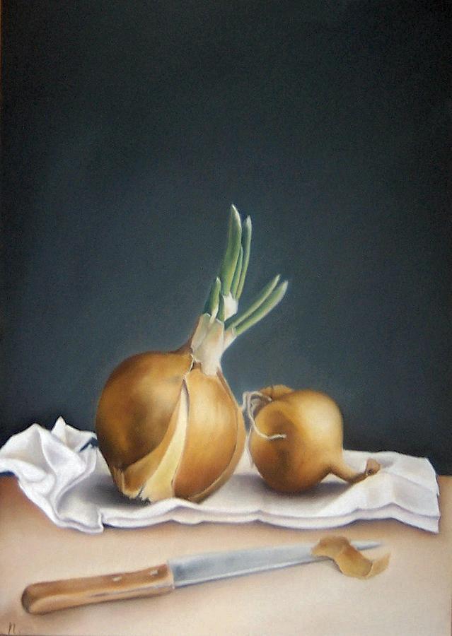Still Life Painting - Still Life With Onions by Natasha Zivojinovic