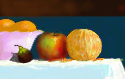 Still Life Digital Art - Still Life With Orange by Gerald Wolfert