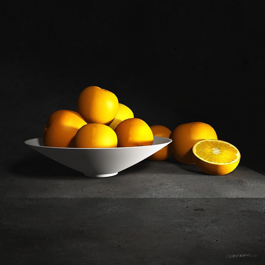 Cynthia Decker Digital Art - Still Life With Oranges by Cynthia Decker