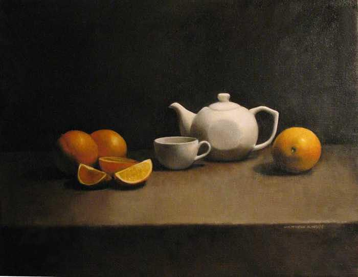 Still Life with oranges Painting by Matthew Kinsey