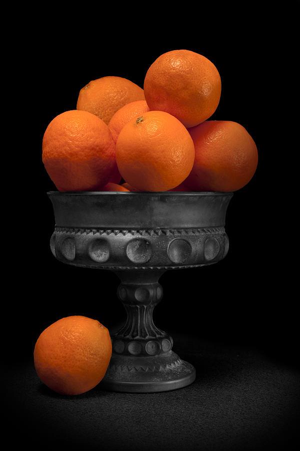 Bowl Photograph - Still Life With Oranges by Tom Mc Nemar