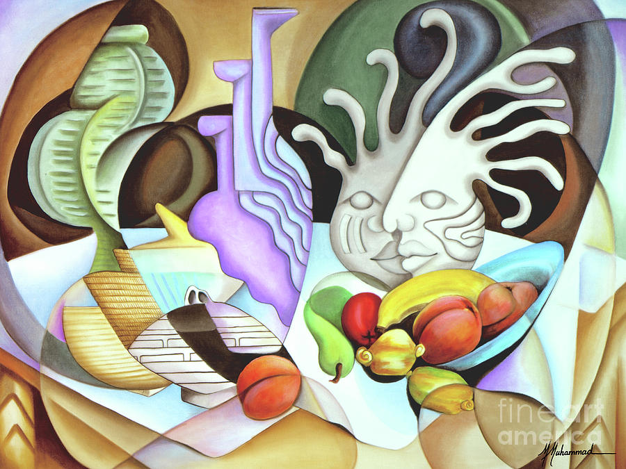 Fruit Painting - Still Life With Peaches by Marcella Muhammad