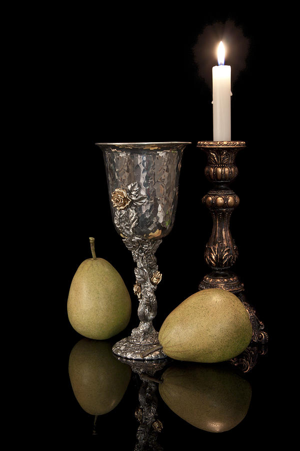 Chalice Photograph - Still Life With Pears by Tom Mc Nemar
