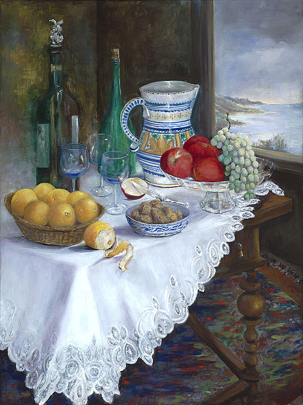 Still Life With Pitcher Painting by Carmen Galigarcia