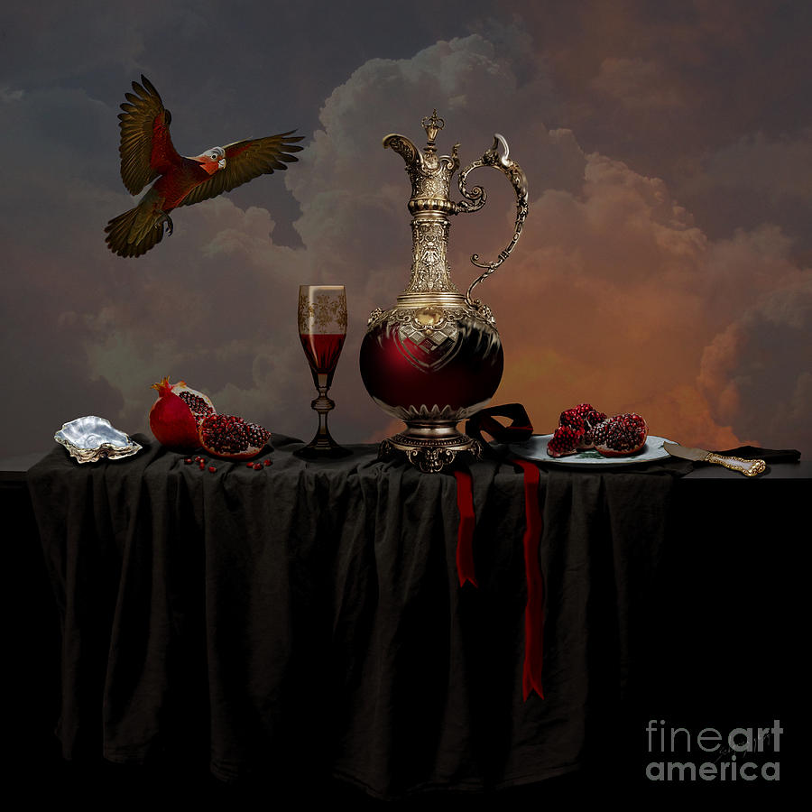 Still life with pomegranate by Alexa Szlavics