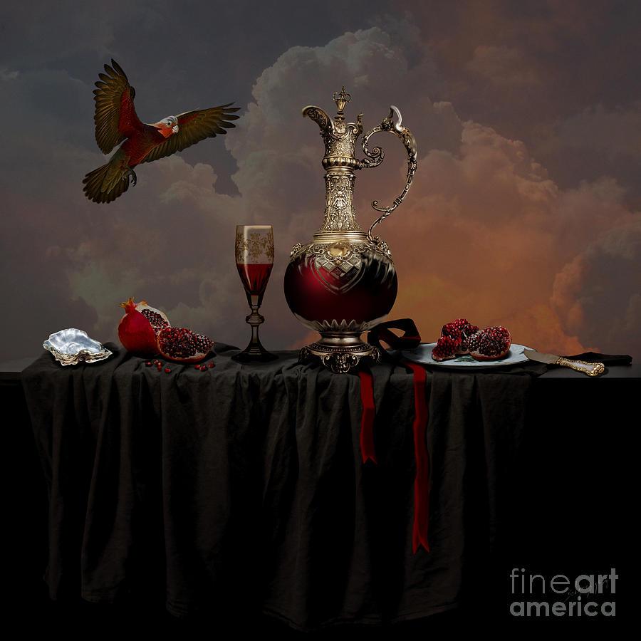 Still life with pomegranate by Alexa Szlavics