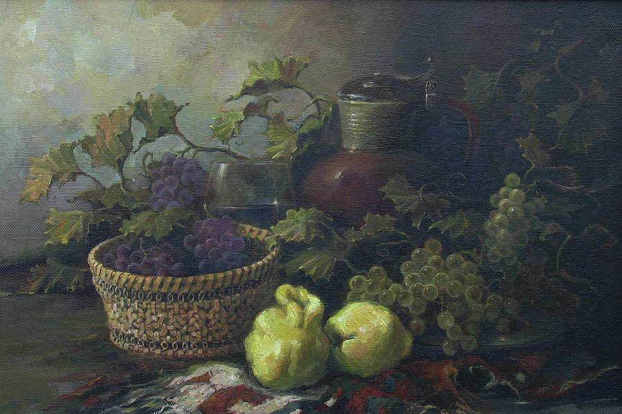 Armenian Painting - Still-life With Quinces by Tigran Ghulyan