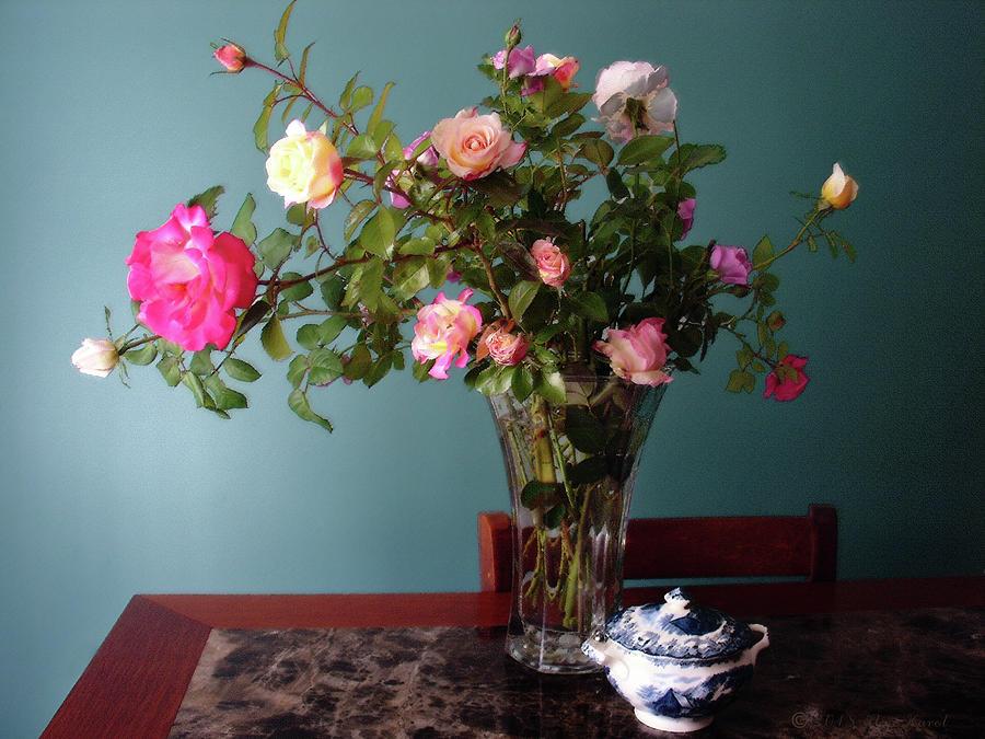 Still Life With Roses Mixed Media