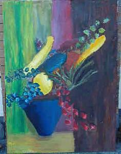 Grapes Painting - Still Life With Squash by Charles Semowich