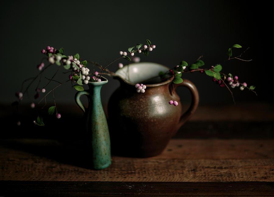 Still Life Photograph - Still Life With Stoneware  by Nailia Schwarz