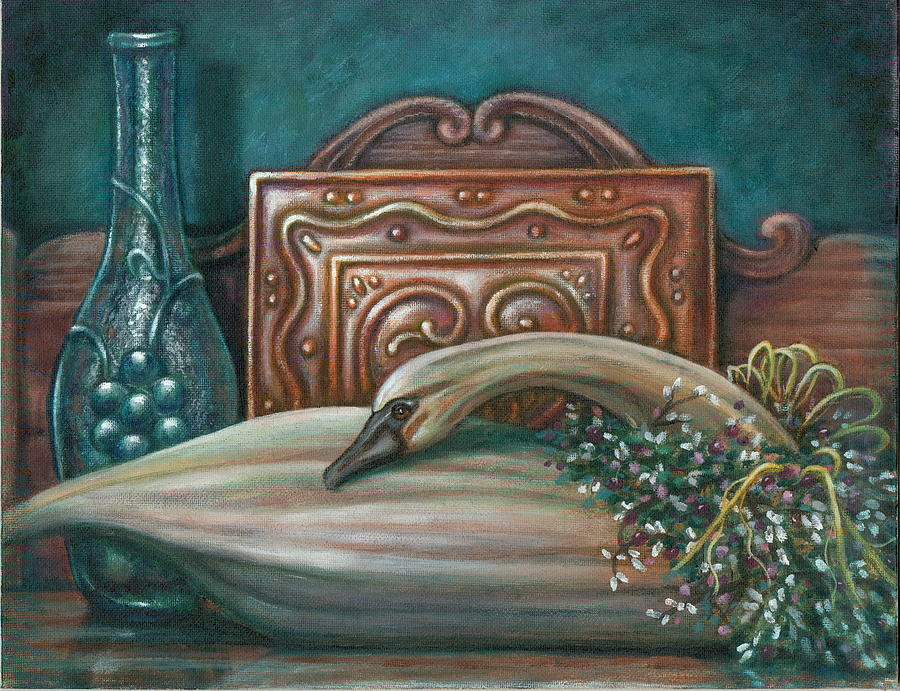 Swan Painting - Still Life With Swan by Colleen  Maas-Pastore