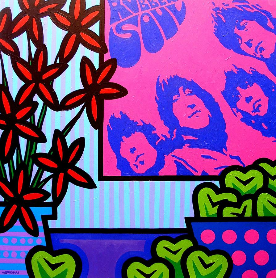 Acrylic Painting - Still Life With The Beatles by John  Nolan