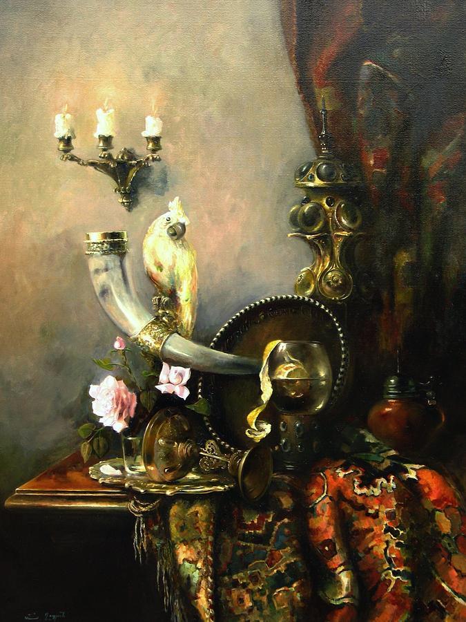 Armenian Painting - Still-life With The Dojra by Tigran Ghulyan