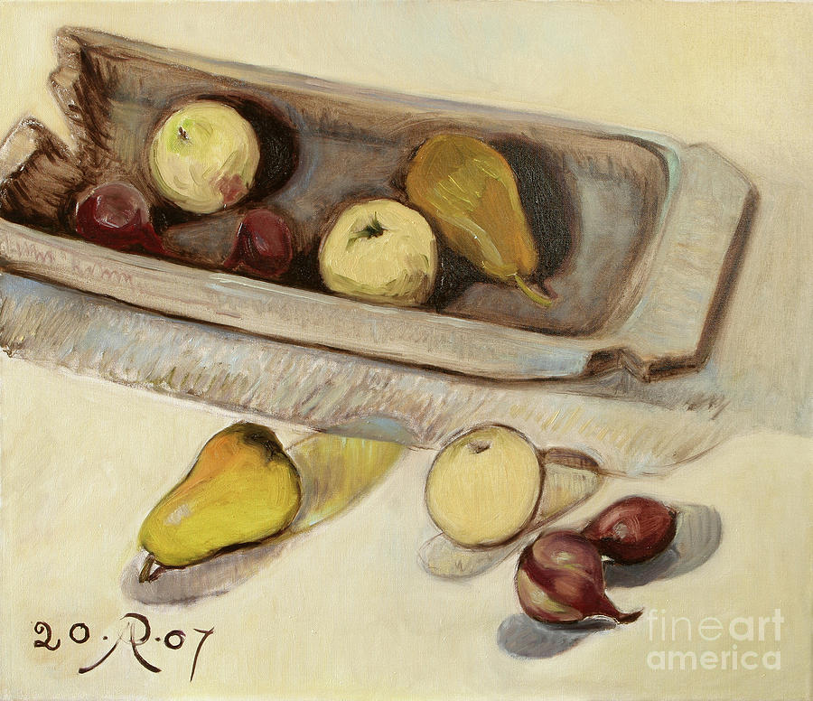 Still Life Painting - Still Life with Tub by Raimonda Jatkeviciute-Kasparaviciene