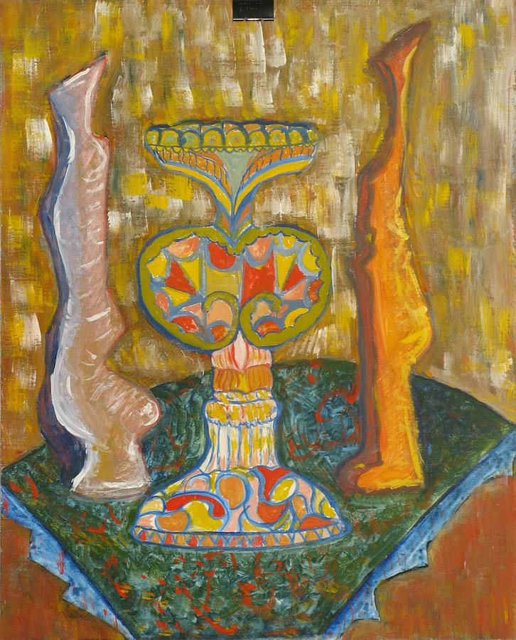 Still Life Painting - Still Life With Vessel by Alfonso Robustelli