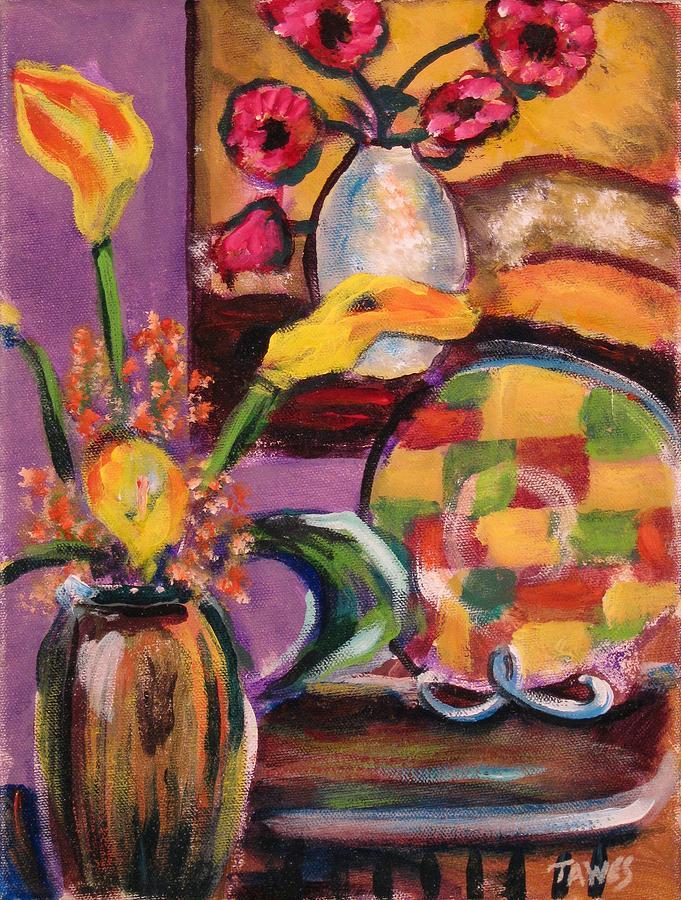 Still Life Painting - Still Life Within A Still Life Left by Dennis Tawes