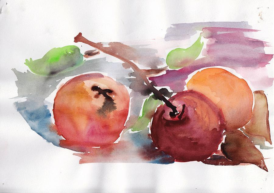 Nature Painting - Still Nature 1 by Nyna Niny