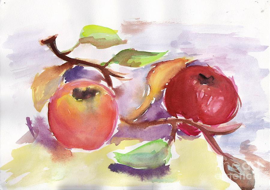 Nature Painting - Still Nature 2 by Nyna Niny
