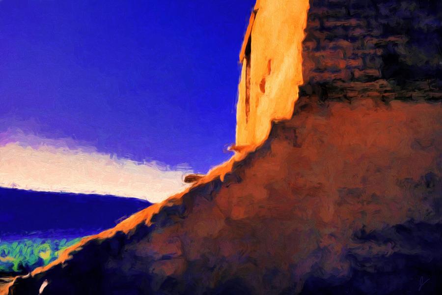 Pecos Pueblo Painting - Still Rising by Jim Buchanan
