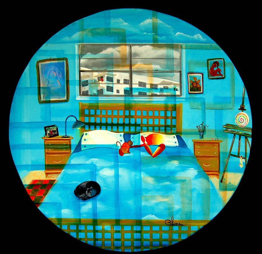Fantasy Painting - Still Sleeping by Blima Efraim