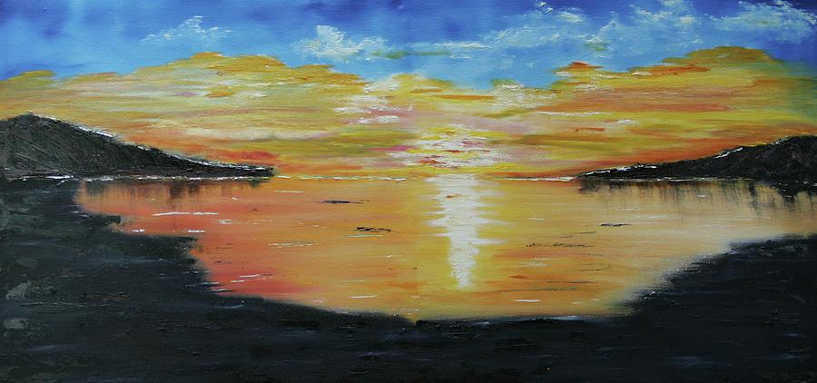 Landscape Painting - Still Sleeping by Robin Lee