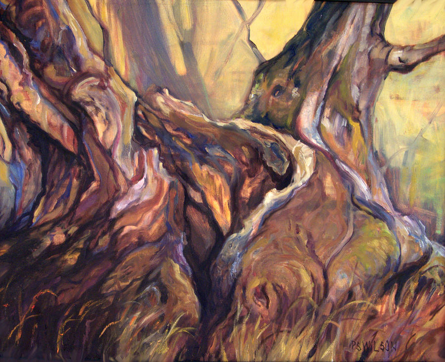 Trees Painting - Still Standing by Peggy Wilson