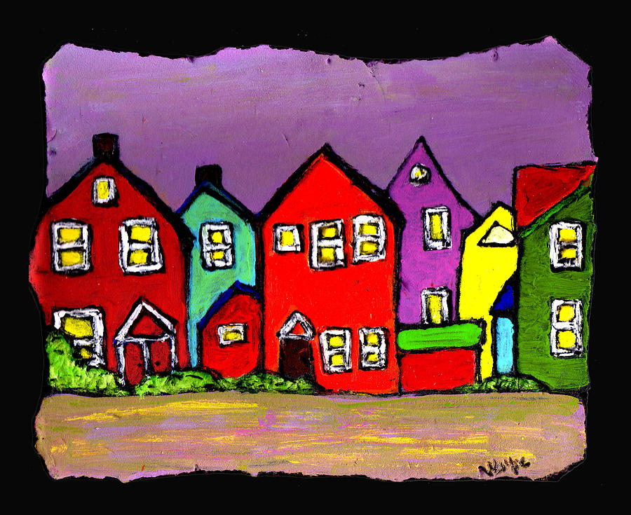 Houses Painting - Still Standing by Wayne Potrafka