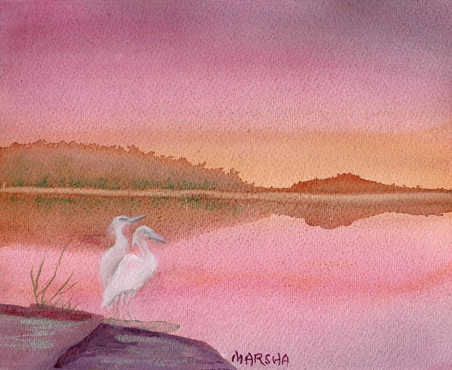 Still Sunset by Marsha Woods