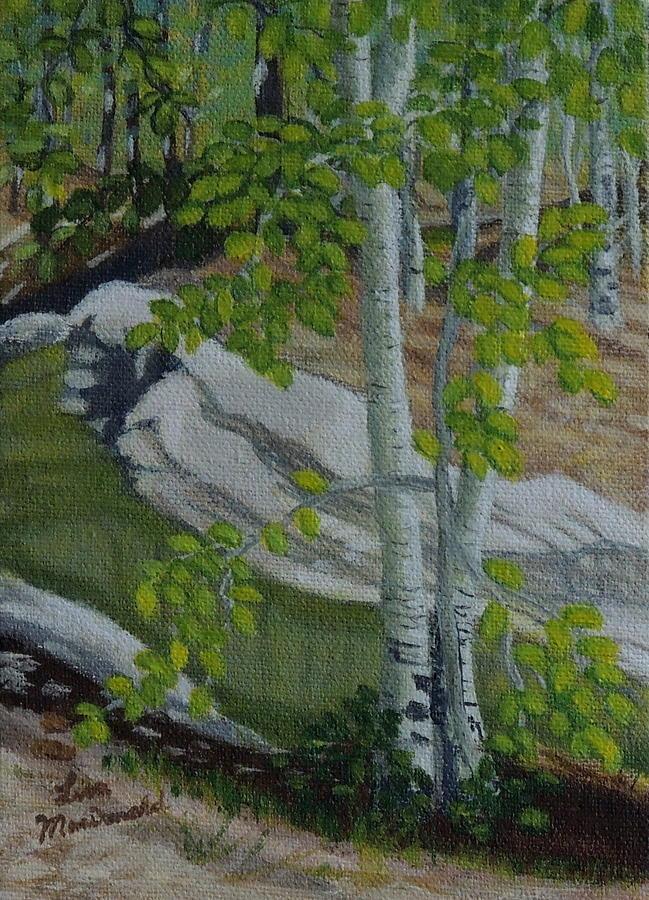 Acrylic Painting - Still Water by Lisa MacDonald