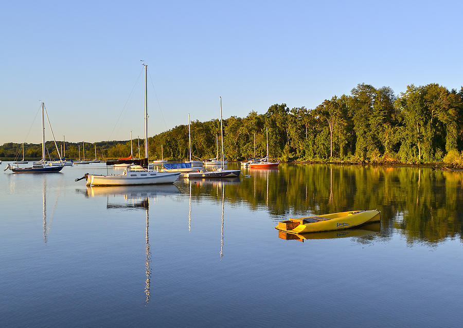 Alexandria Photograph - Still Waters On The Potomac River At Belle Haven Marina Virginia by Brendan Reals