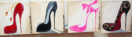Shoes Painting - Stilletto Styles by Barbara Cruz