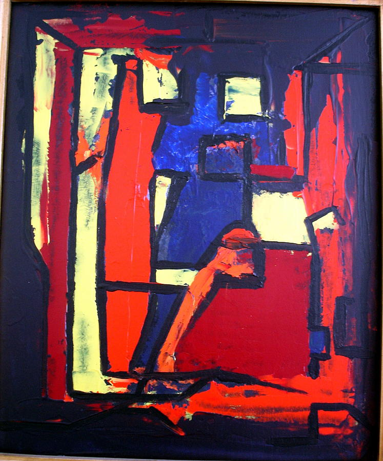 Abstract Paintings Painting - Stillife by Albert Kutzelnig