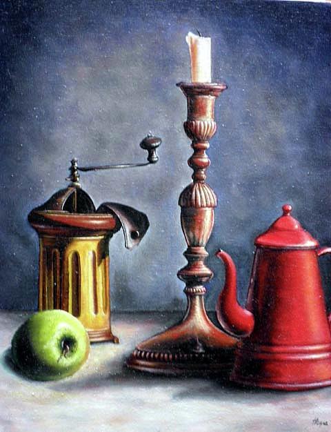Stillife Painting by Sasa Milojkovic