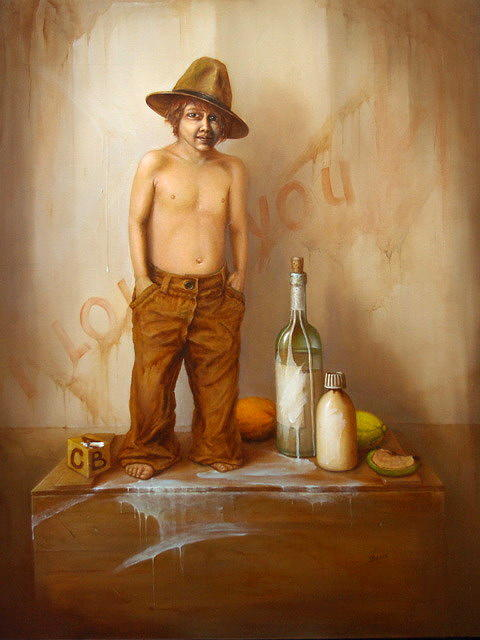 Still Life Painting - Stilllife With Boy by Vaidotas Bakutis