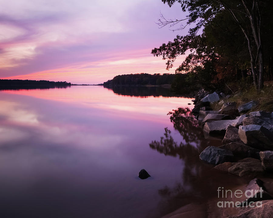 Colonial Parkway Photograph - Stillness of Dusk by Lisa McStamp
