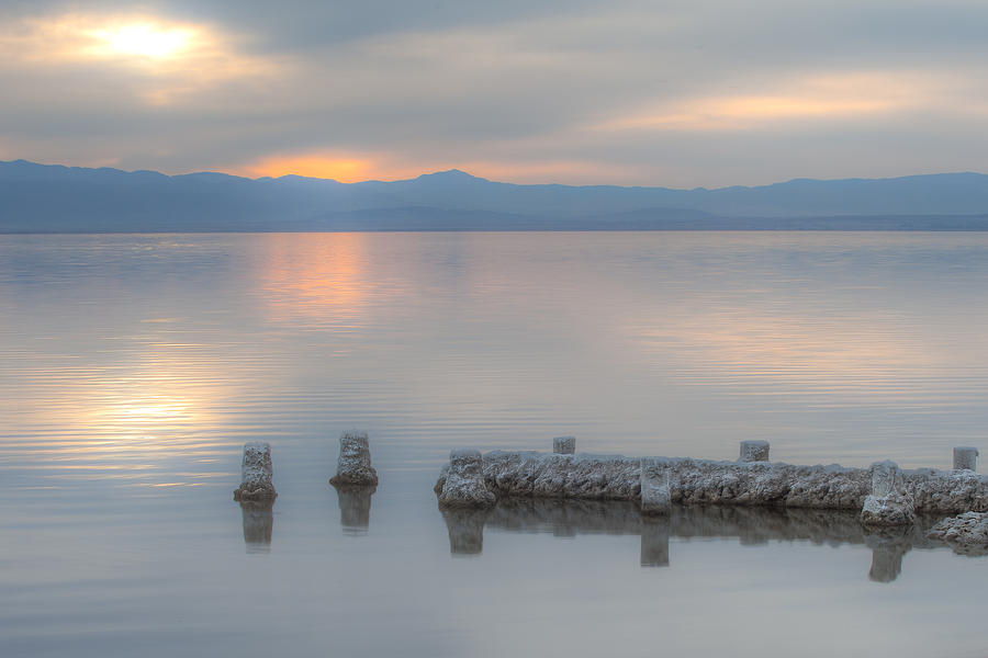 Stillness on Salton Sea by Peter Dyke