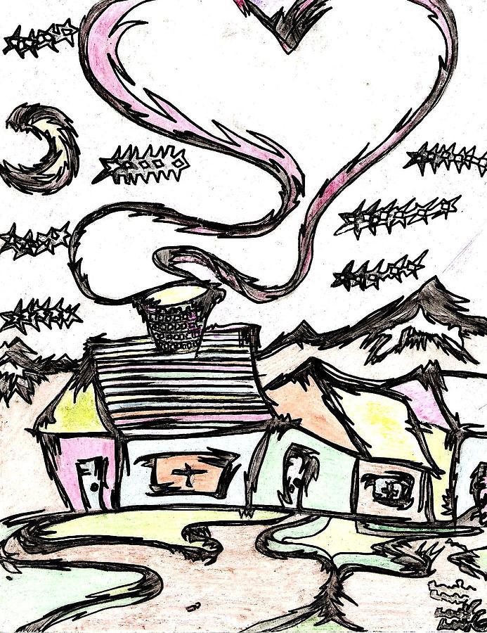 Free Drawing - Stitchlips House by Levi Glassrock
