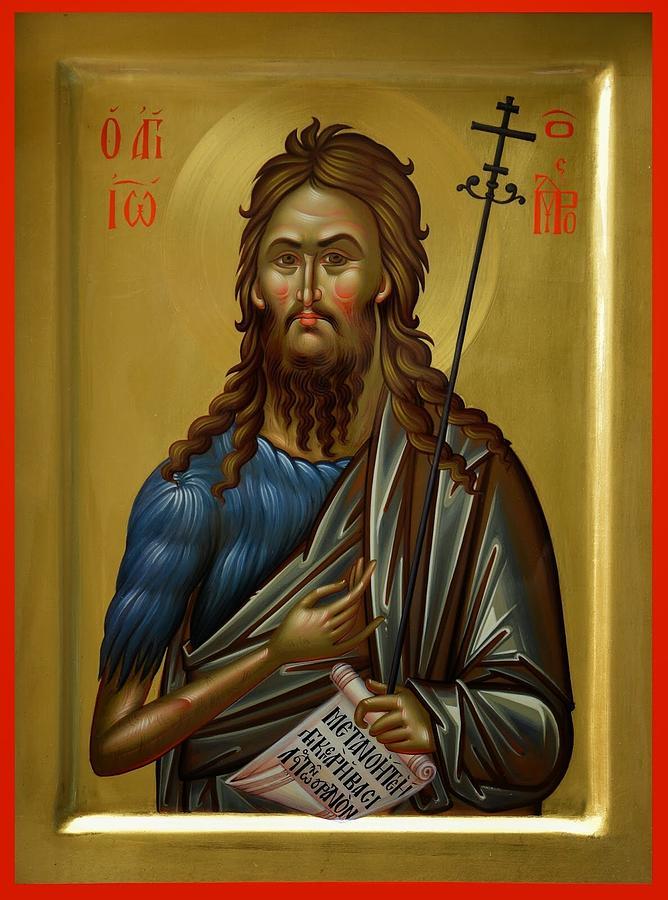 John Painting - St.john The Baptist by Daniel Neculae