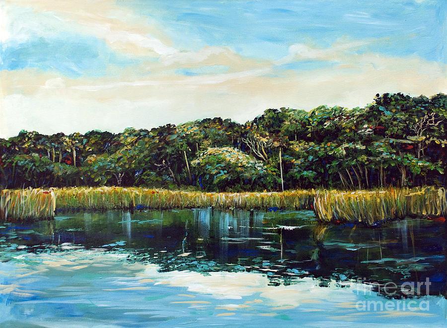 Intracoastal Waterway Painting - St.johns River by Linda Olsen