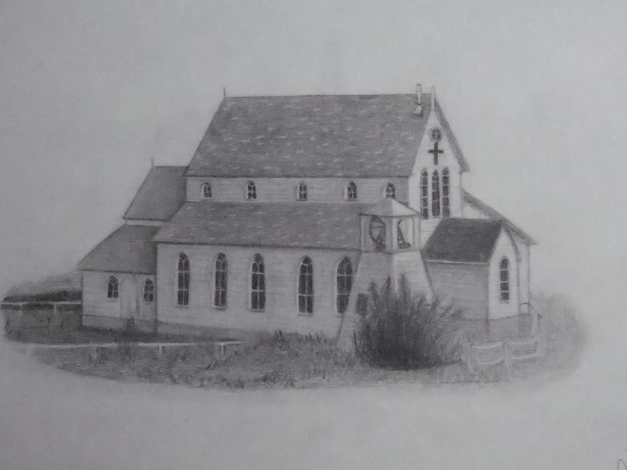 Church Drawing - St.margarets Anglican Church Change Islands by Tonya Hoffe