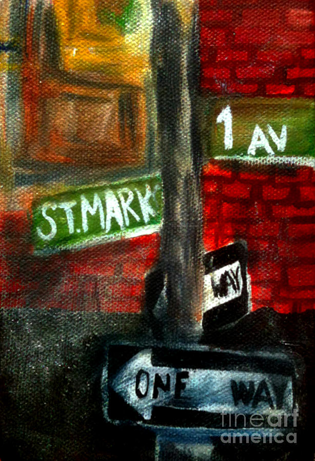 St.marks Painting - St.marks Place by Simonne Mina