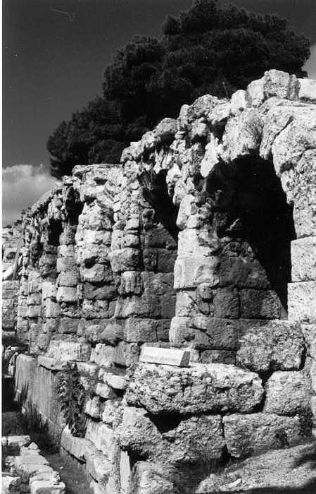 Acropolis Photograph - Stoa of Eumenes Athens by Susan Chandler